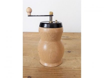 Ruční mlýnek na koření, Stilis, světlé dřevo, 12x5,5 cm