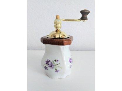 Ruční mlýnek na koření Venezia, Fialky, výška 16 cm
