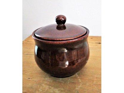 Sádlák objem 0,8 litrů hnědá, keramika