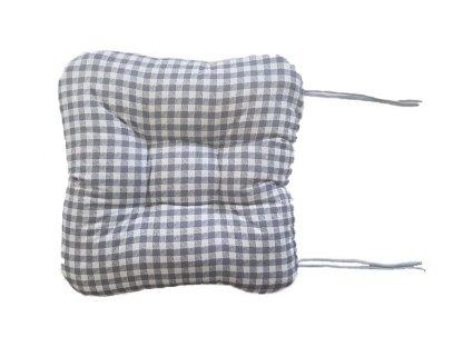 Sedák na křeslo - Kostka šedá