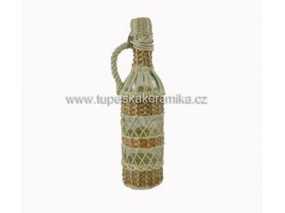 Skleněná opletená láhev 1l