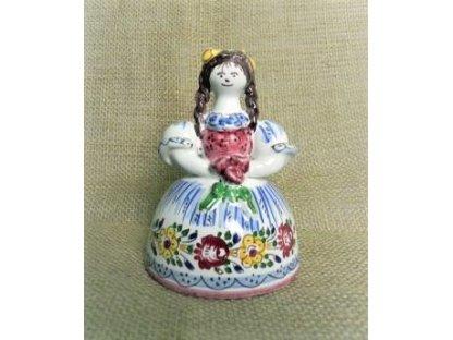 Slovácká panenka keramická