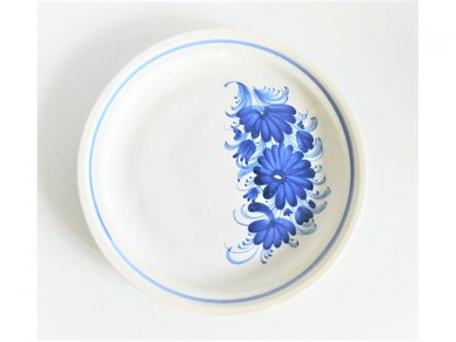 Talíř modré květy mělký
