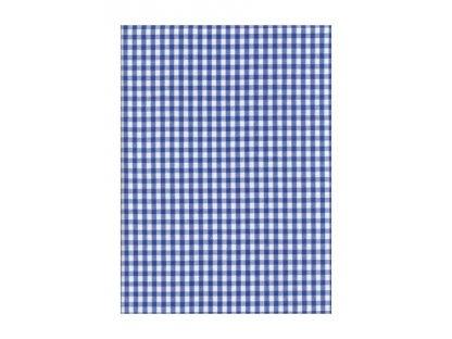 Ubrus Pavel 0,5  modré kostky, kanafas, 140x180  cm