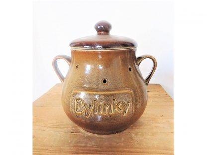 Uskladňovací nádoba na bylinky MIX, objem 1,8 litrů, keramika