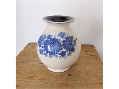 Váza baňatá s květy 1.