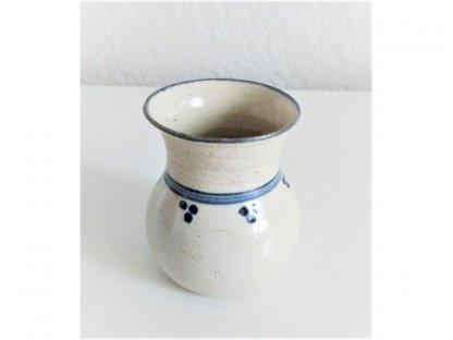 Vázička na fialky nebo drobná kvítka, modro-bílá kamenina