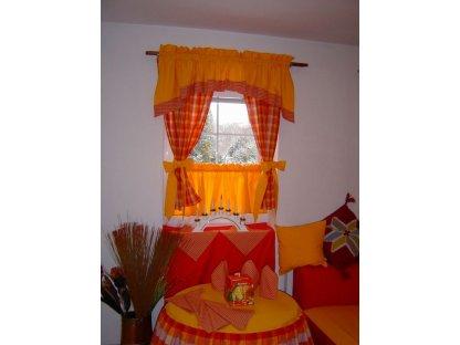 Závěs a záclonka do okna Andrea+zlatá, 100x110 cm