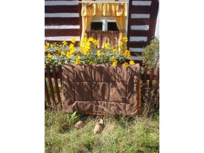 Závěs a záclonka do okna Laura+skořice, 100x110 cm