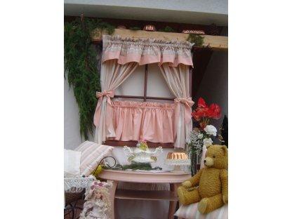 Závěs a záclonka do okna Milena+losos, 100x110 cm