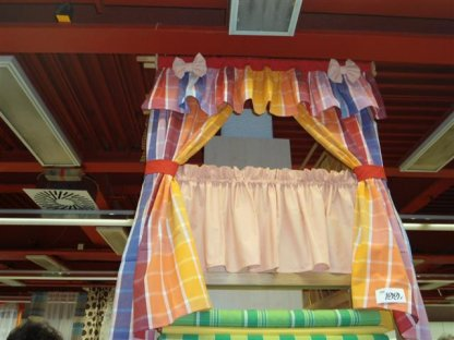 Závěs a záclonka do okna, Růženka, 100x110 cm