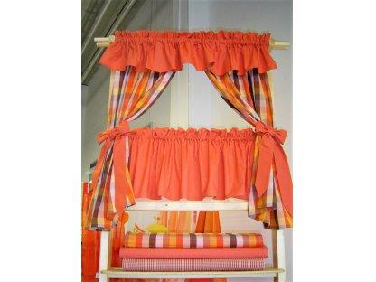 Závěs a záclonka do okna Terezka K 3,5 a Rezavá 100x110 cm