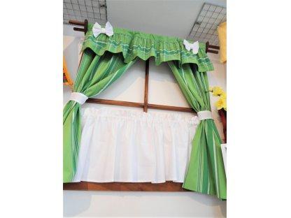 Závěsy a záclonky do okna Zorina+bílá, 100x110 cm