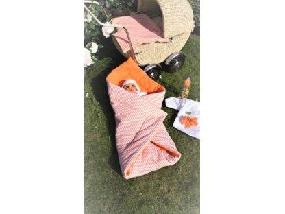 Zavinovačka Aneta P+oranž 70x70 cm, kanafas