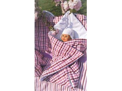 Zavinovačka Josefína K 70x70 cm, růžový proužek, kanafas