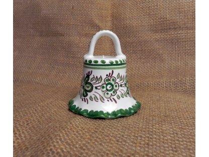 Zvoneček  Keramika zeleno bílá
