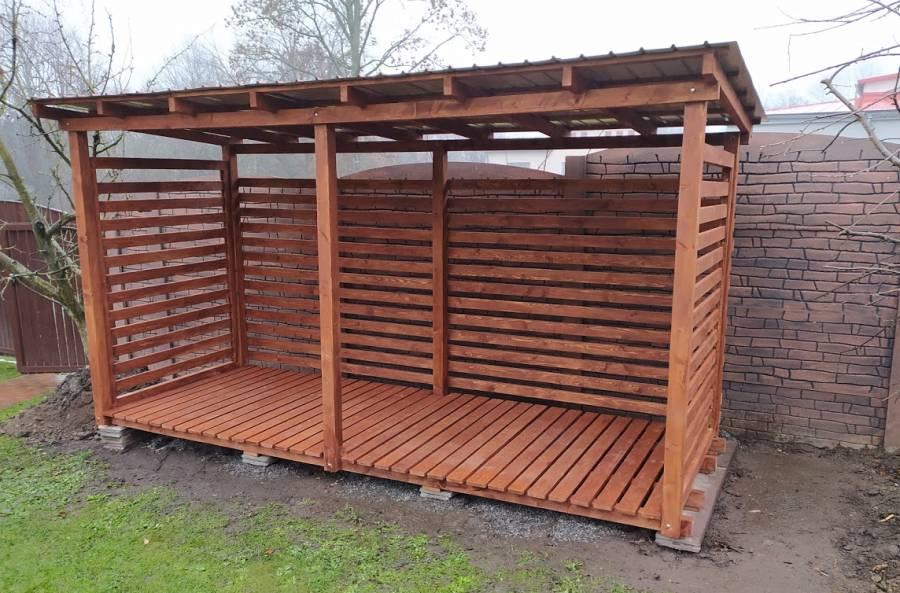 Dřevníky, elegantní řešení na skladování palivového dřeva