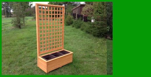 Nový typ dřevěného truhlíku s mřížkou v naší nabídce