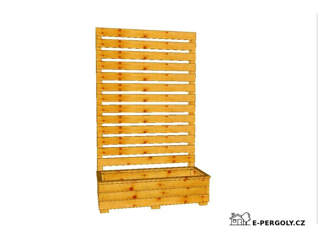 Dřevěný truhlík Áčko 40/100 zástěna Béďa 3