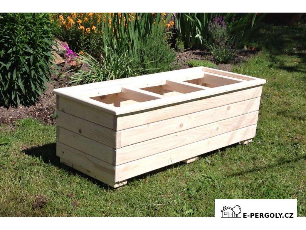Dřevěný truhlík Béčko 3