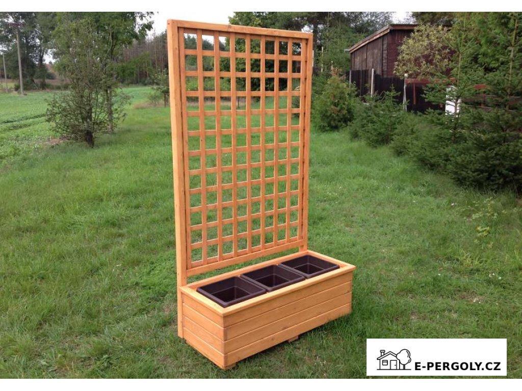 Dřevěný truhlík Béčko 3 mřížka Mates A8
