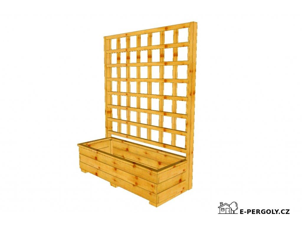 Dřevěný truhlík Vendy 100 s mřížkou