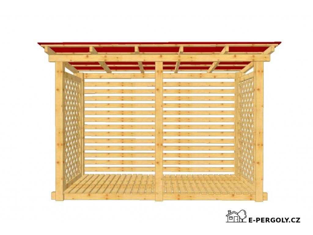 Dřevník Macík 120300 střecha trapéz plech