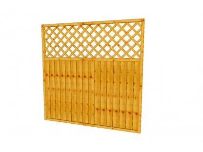 Dřevěná zahradní zástěna Áčko A8, 180 x 180 cm