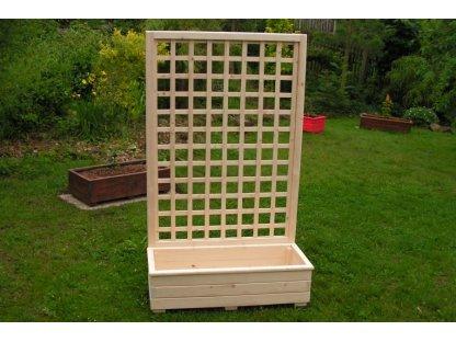 Dřevěný truhlík Áčko 40/100 mřížka Mates A8