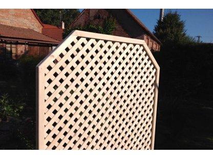 Dřevěný truhlík Áčko 40/120 mřížka Macík A3 roh