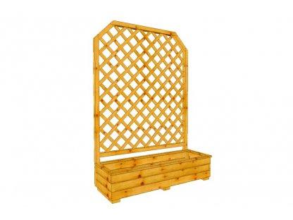 Dřevěný truhlík Áčko 40/120, mřížka Macík A8 roh