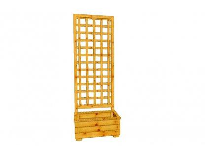 Dřevěný truhlík Áčko 40/60, mřížka Mates A8