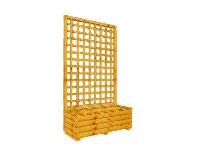 Dřevěný truhlík Áčko XL 40/100, mřížka Mates A8