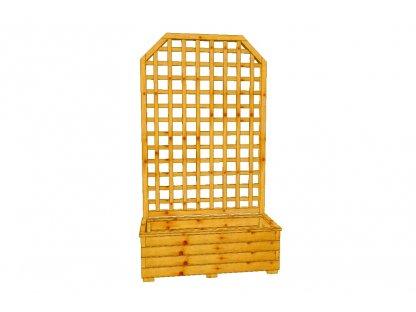 Dřevěný truhlík Áčko XL 40/100, mřížka Mates A8 roh