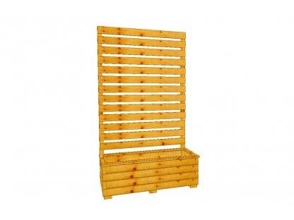 Dřevěný truhlík Áčko XL 40/100, zástěna Béďa 3
