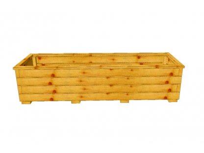 Dřevěný truhlík Áčko XL 40/140
