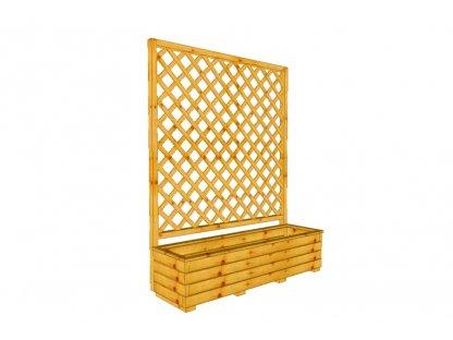 Dřevěný truhlík Áčko XL 40/140, mřížka Macík A8