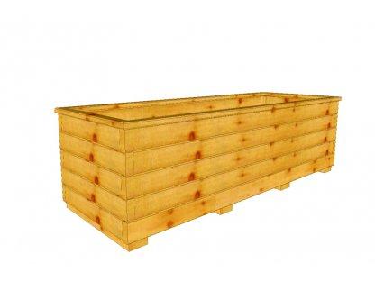 Dřevěný truhlík Áčko XXL 50/140