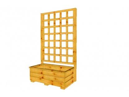 Dřevěný truhlík Vendy 72 s mřížkou