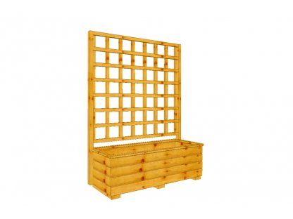 Dřevěný truhlík Vendy XL 100 s mřížkou
