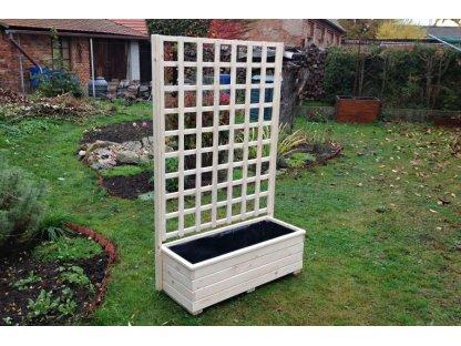 Dřevěný truhlík Vendy XL 100 s mřížkou plus