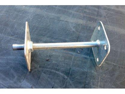 Kovová kotvicí patka 25 cm, stavitelná