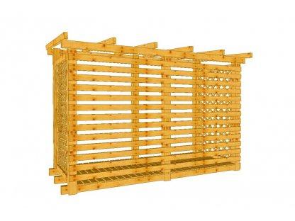 Dřevník Macík 120300 bez střešní krytiny