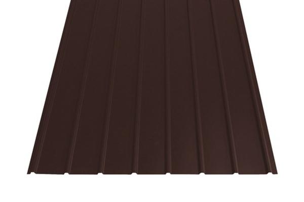 Střešní krytina trapéz plech, čokoládově