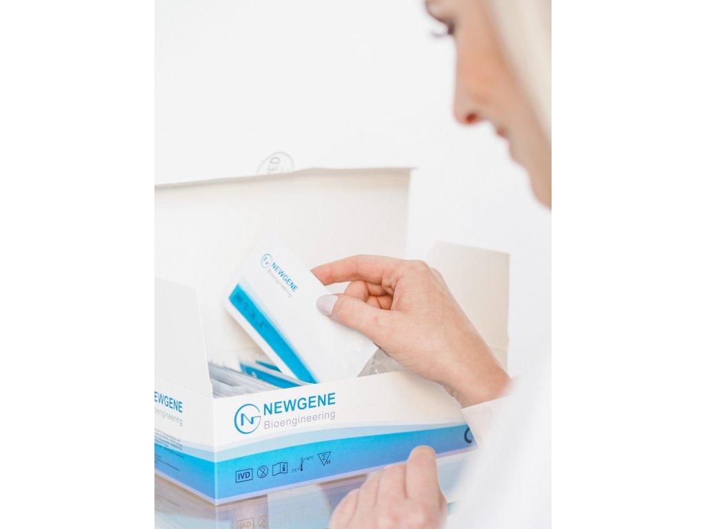 NEWGENE Rapid Test 100 ks - antigenní test ze slin na Covid-19