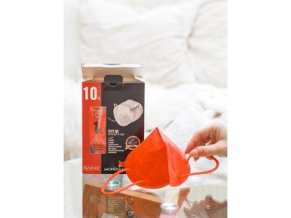 Červený respirátor FFP2 10 ks