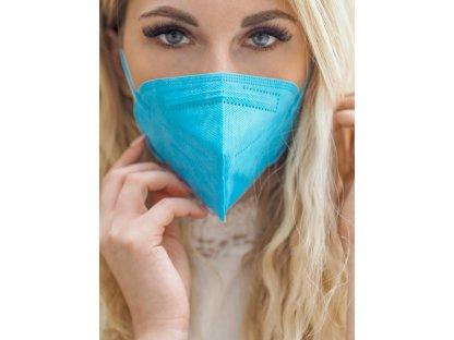 Modrý respirátor FFP2 10 ks