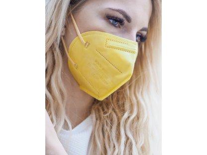 Žlutý respirátor FFP2 10 ks