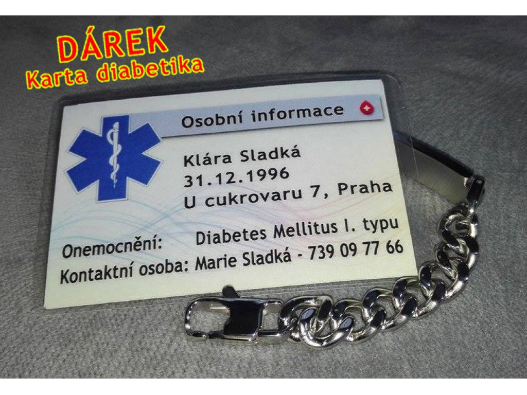 Náramek - Jsem Diabetik - 9.5 mm 2