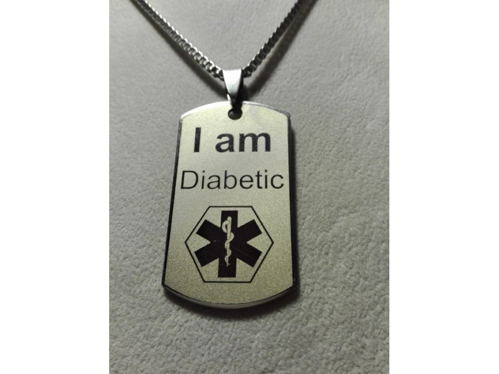 Přívěsek I am Diabetic - Jsem diabetik